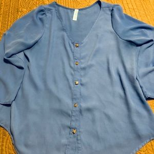Blue blouse bought at Francescas Sz M